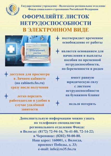 сайт социального страхования по вологодской области